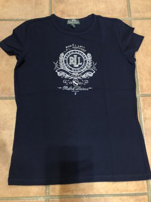 Ralph Lauren Print Shirt dark blue-silver-colored cotton