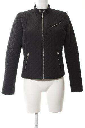 Ralph Lauren Übergangsjacke schwarz-silberfarben Steppmuster Casual-Look