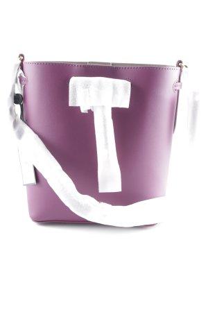 "Ralph Lauren Borsa a spalla ""Dryden Debby II Mini Drawstring Bag Eggplant/Taupe"""