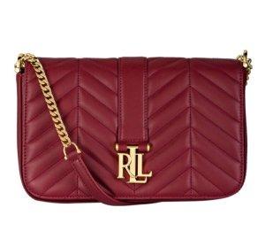 Ralph Lauren Bolsa de hombro rojo oscuro-carmín