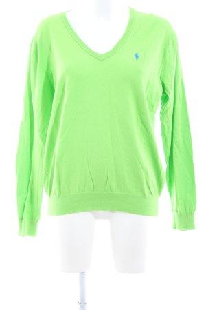 Ralph Lauren V-Ausschnitt-Pullover grün Business-Look