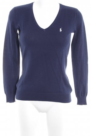 Ralph Lauren V-Ausschnitt-Pullover dunkelblau Casual-Look