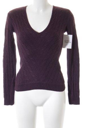 Ralph Lauren V-Ausschnitt-Pullover dunkelviolett