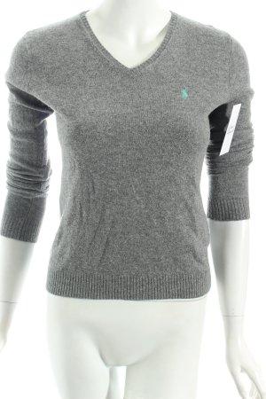 Ralph Lauren V-Ausschnitt-Pullover grau klassischer Stil