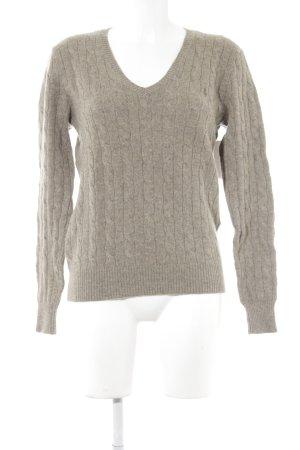 Ralph Lauren V-Ausschnitt-Pullover graubraun Casual-Look