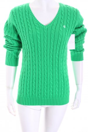Ralph Lauren V-Ausschnitt-Pullover grün schlichter Stil