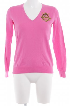 Ralph Lauren V-Ausschnitt-Pullover pink klassischer Stil
