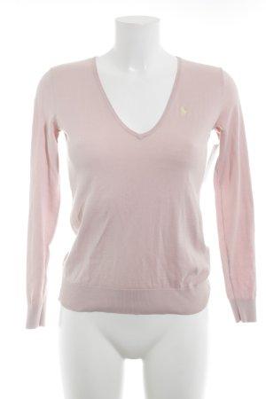 Ralph Lauren Jersey con cuello de pico rosa-amarillo claro look casual