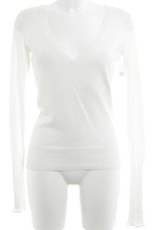 Ralph Lauren V-Ausschnitt-Pullover wollweiß Casual-Look