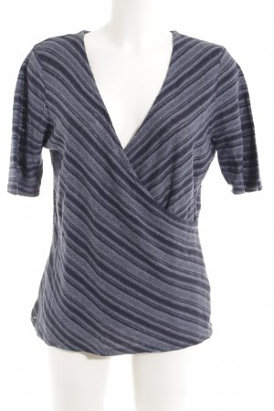 Ralph Lauren V-Ausschnitt-Shirt dunkelblau-stahlblau Streifenmuster Casual-Look