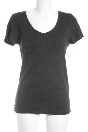 Ralph Lauren V-Ausschnitt-Shirt dunkelgrau Casual-Look