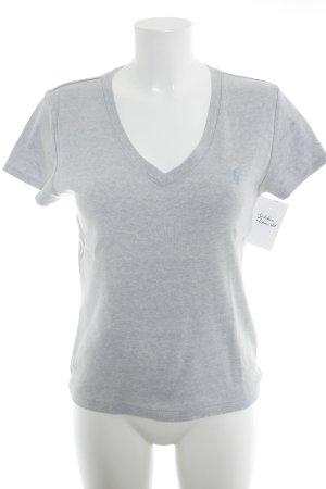 Ralph Lauren V-Neck Shirt light grey casual look