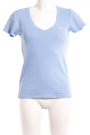 Ralph Lauren V-Neck Shirt azure athletic style