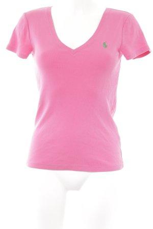 Ralph Lauren Maglia con scollo a V rosa stile casual