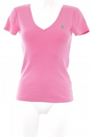 Ralph Lauren V-hals shirt roze casual uitstraling