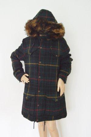 Ralph Lauren Vintage Woll Mantel gr.L Karo