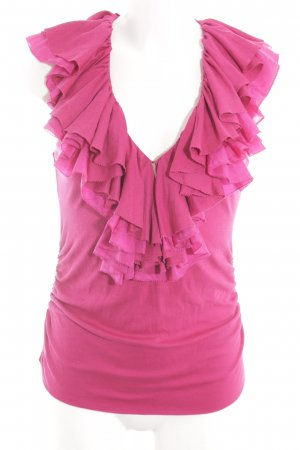 Ralph Lauren Flounce Top pink casual look
