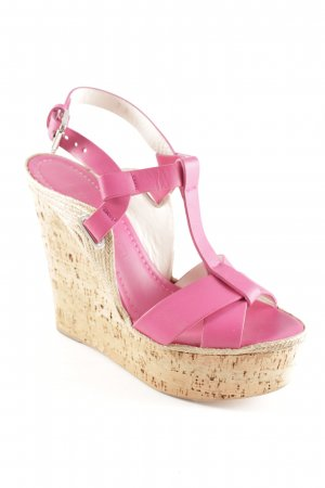 Ralph Lauren Wedge Sandals pink street-fashion look