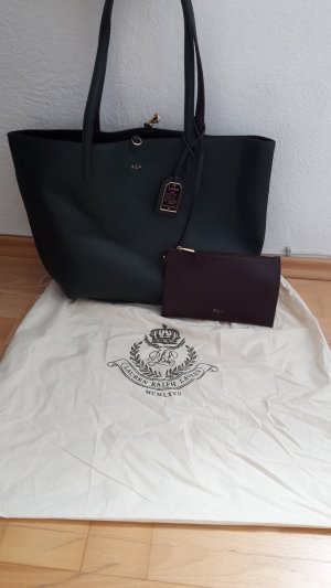 Ralph Lauren Turn Bag brown violet-dark green