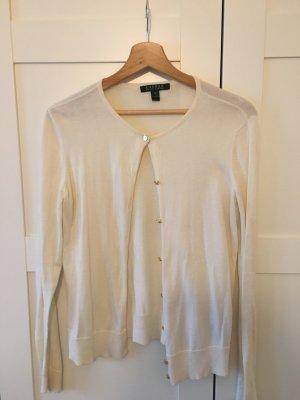 Lauren by Ralph Lauren Smanicato lavorato a maglia bianco sporco