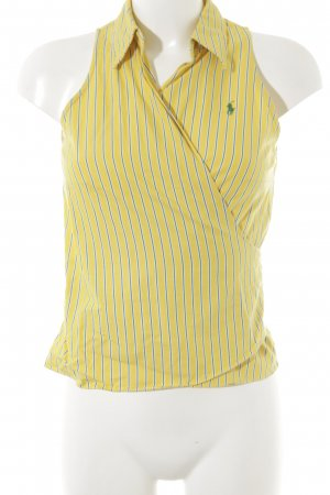 Ralph Lauren Wraparound Blouse striped pattern sailor style