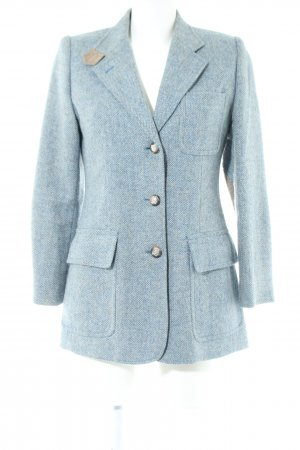 Ralph Lauren Woll-Blazer türkis-blau Webmuster Business-Look