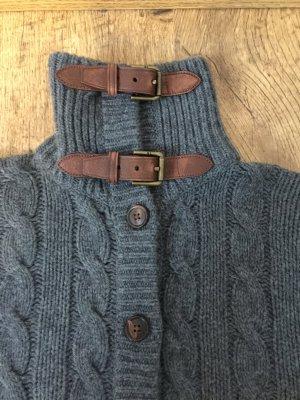 RALPH LAUREN Woll-Cashmere Pullover mit Echtleder Applikationen Größe S