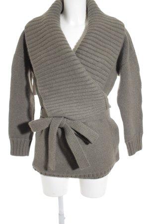 Ralph Lauren Veste en laine kaki motif tricoté lâche molletonné