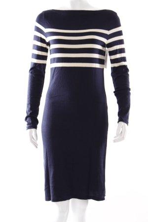 Ralph Lauren Wollkleid dunkelblau-wollweiß Streifenmuster Marine-Look