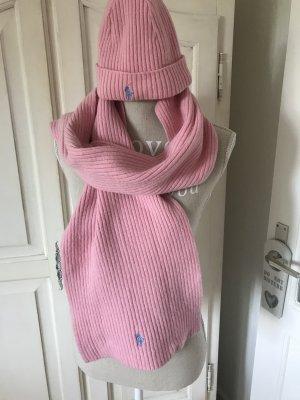 """Ralph Lauren Wollmütze und Schal im Set rosa""""Letzte Preisreduzierung!!!149€"""