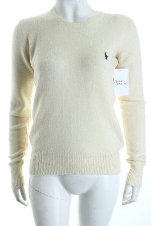 Ralph Lauren Wollpullover creme schlichter Stil
