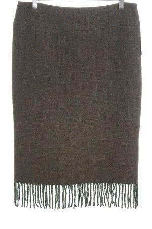 Ralph Lauren Wollrock waldgrün-braun meliert schlichter Stil