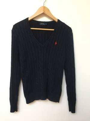 Ralph Lauren Cable Sweater dark blue-red