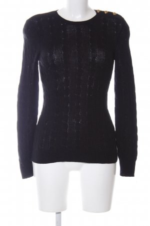 Ralph Lauren Cable Sweater black cable stitch casual look