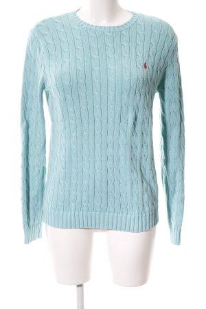 Ralph Lauren Jersey trenzado turquesa punto trenzado look casual