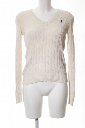 Ralph Lauren Cable Sweater natural white cable stitch casual look