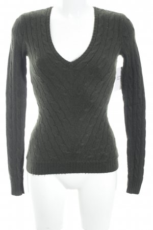 Ralph Lauren Cable Sweater dark green casual look
