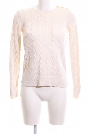 Ralph Lauren Cable Sweater cream cable stitch casual look