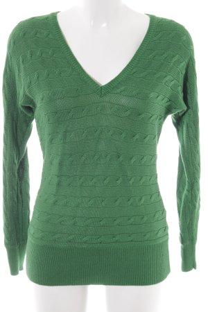 Ralph Lauren Kabeltrui groen casual uitstraling