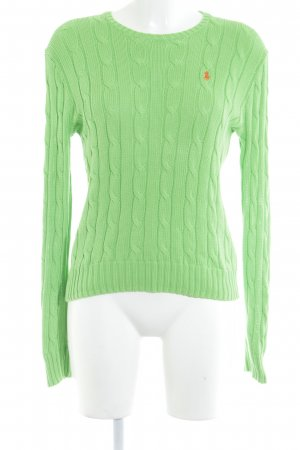 Ralph Lauren Cable Sweater green cable stitch casual look