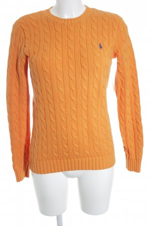 Ralph Lauren Pull torsadé orange clair torsades style simple