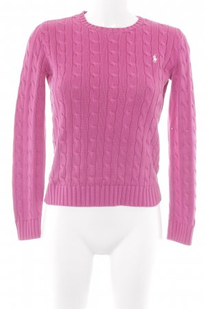 Ralph Lauren Cable Sweater pink cable stitch casual look