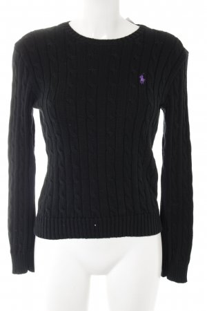 Ralph Lauren Jersey trenzado negro look casual
