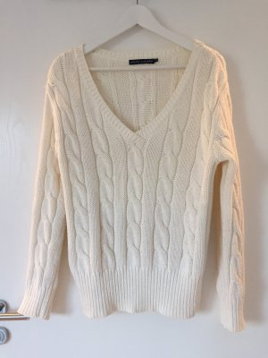 Ralph Lauren Cable Sweater natural white