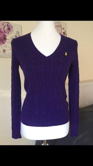 Ralph Lauren Jersey trenzado violeta oscuro Algodón