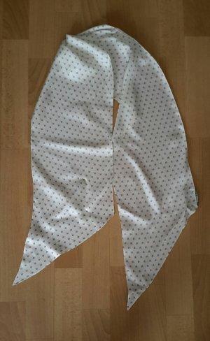 Lauren by Ralph Lauren Sciarpa di seta bianco-blu fiordaliso Seta