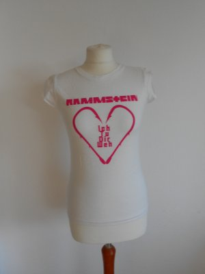 B&C collection T-shirt bianco-rosa