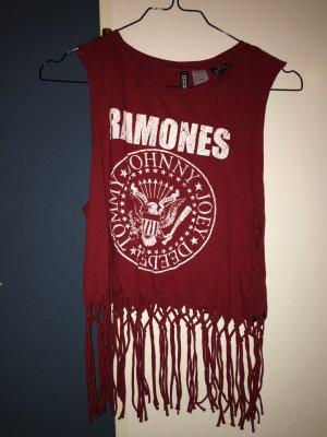 Ramones Shirt mit Fransen