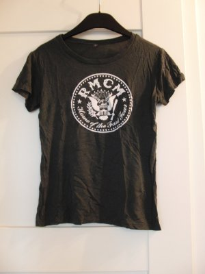 Camiseta estampada gris antracita-gris oscuro Viscosa