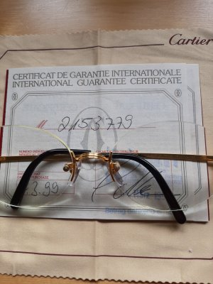 randlose Cartier Brille